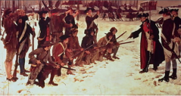 Baron_Steuben_drilling_troops_at_Valley_Forge_by_E_A_Abbey